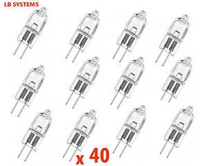 a 40 x g4 12v 10w 20w y 35w lamparas halogenas capsula bombillas 12v nuevo