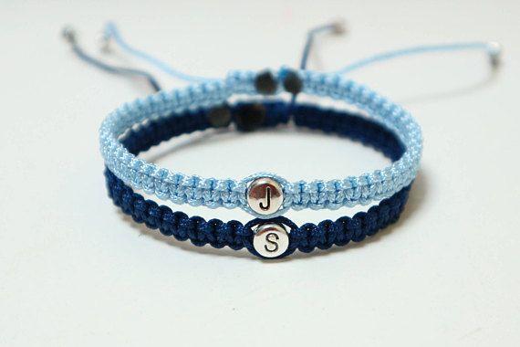 Free Worldwide Shipping Set Of Initials Bracelet Couples