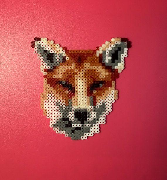 Fox Hama kralen van Catcheneva op Etsy