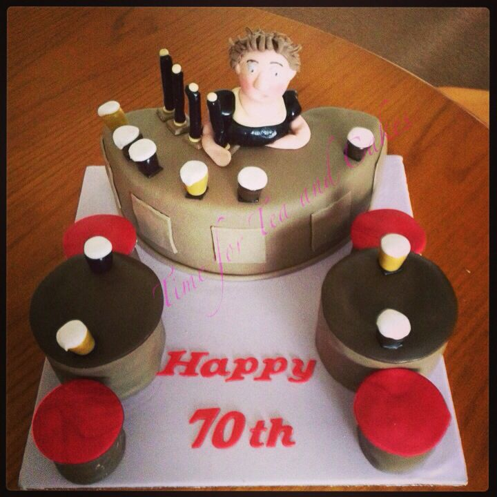 Pub Themed 70th Birthday Cake Xx Time For Tea And Cakes