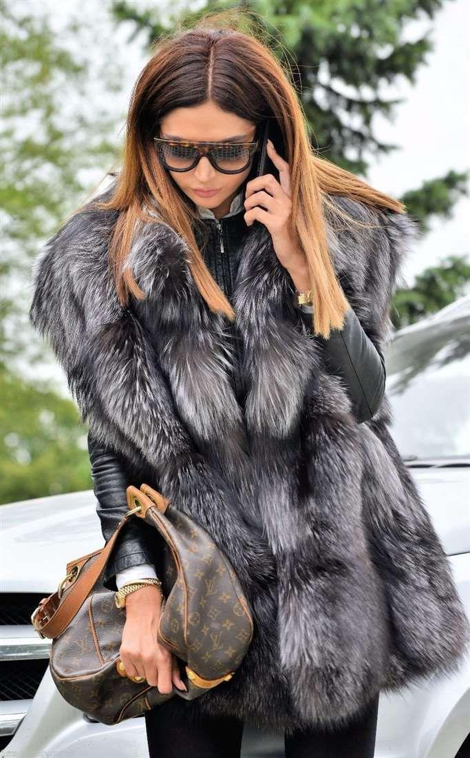 fox furs - saga silver fox fur vest