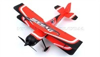 "New Dynam Peaks 42"" RC 4 Channel 3D Bi-Plane ARF w/ Brushless Motor + ESC + Servos (Red)"