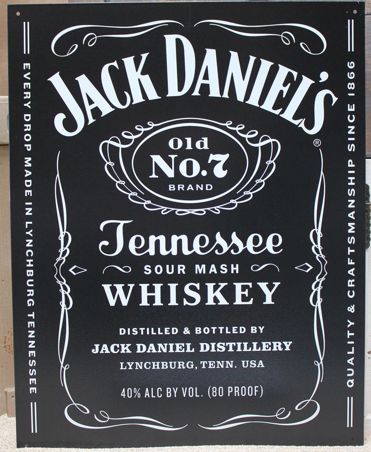Jack Daniels Black Metal Sign - Man Cave Decor - Bar & Game Room Wall Decor