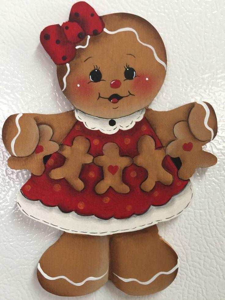 HP Gingerbread Girl~~Valentines Day Fridge Magnet