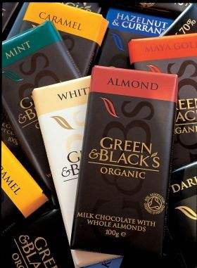 Green and Blacks Chocolates-Always consistently excellent, & widely available-which is a great advantage when trying to buy organic products!