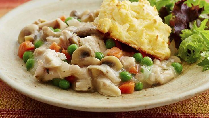 Gluten Free Cheddar Biscuit Chicken Pot Pie. The perfect dinner when ...