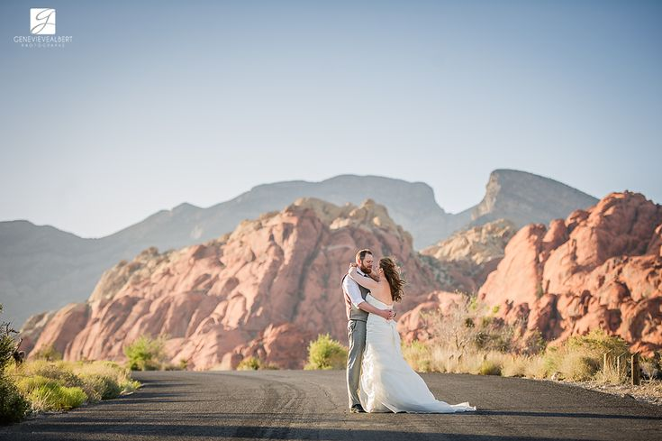 Mariage – Las Vegas – Wedding – Cath and Mike / MGM Grand Las Vegas, Red Rock Canyon and Reception at The Grove