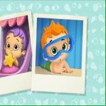 Oona and Nonny as babies in 'Bubble Baby' (because they ...