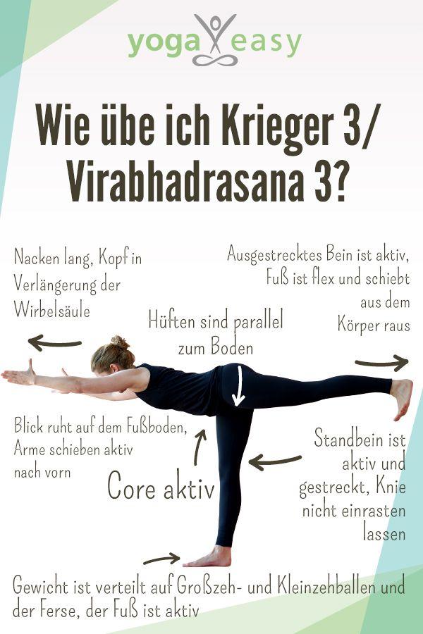 Yoga-Anatomie: Virabhadrasana III – Krieger III | Gesundheit ...