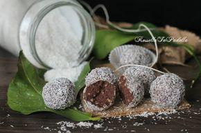 Tartufi di ringo con nutella e cocco. Deliziosi dolcetti senza cottura freschi e golosi velocissimi da preparare e da conservare in frigorifero.