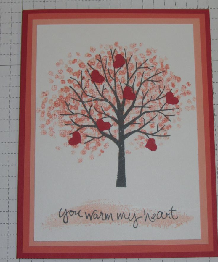 Stampin' Up! Sheltering Tree stamp set.  I just love this stamp set because you can use it for so many different occasions.  This card was made for Valentine's day