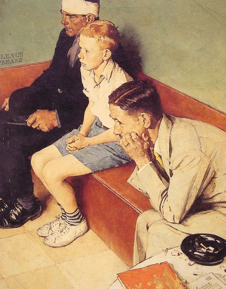 """Norman Rockwell """"The Waiting Room"""" (1937)"""