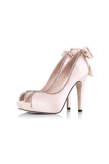 HoneyGirl Peep Toe Heels with Bowknot