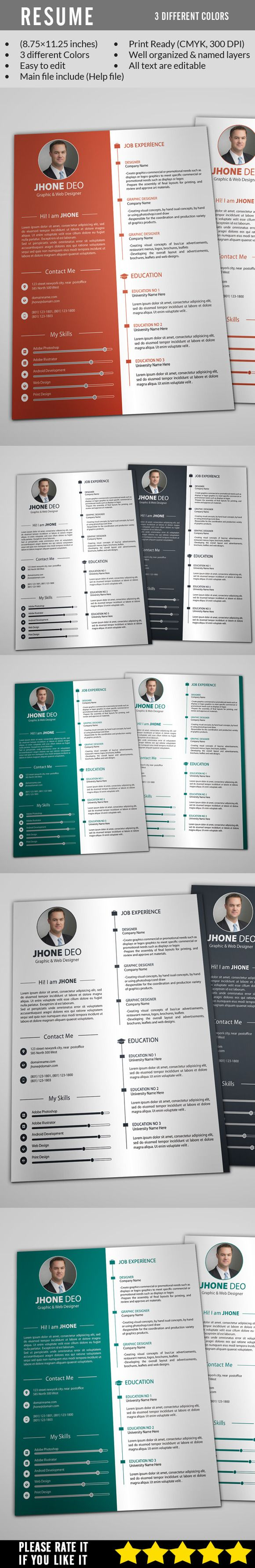 Cv Templates Design%0A Clean Resume by Mehrographix on Creative Market