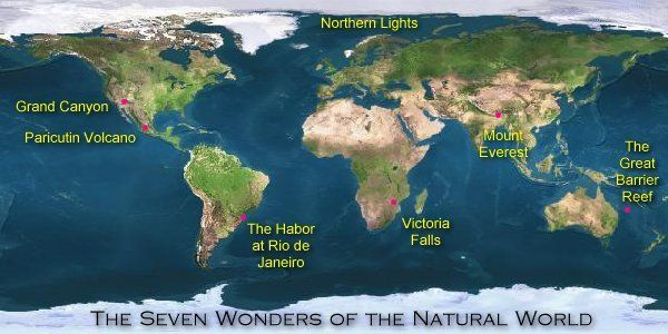 "The 7 Natural Wonders of the World -- ""These incredible places, some of Mother Nature's best offerings, will inspire and amaze you.""  Each of the seven includes pertinent facts and information about it.  Nice for discussions."