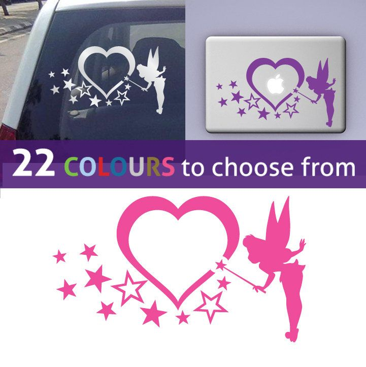 Tinkerbell PIXIE Fairy And HEART SHAPED Graphic Wall Sticker Art Decal For  Car, Mirror, Window, Bedroom, Baby Girls Nursery By Ramutez On Etsy