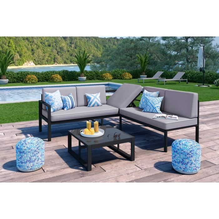 Salon De Jardin Canape Angle Table Basse Et Salon De Jardin Angle