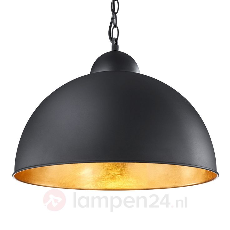 Zwart gouden Led pendellamp Romino veilig & makkelijk online bestellen op lampen24.nl