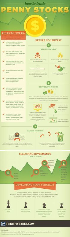 This infographic covers some of Tim Sykes' rules for success in investing in Penny Stocks. investing basics, how to invest #personalfinance