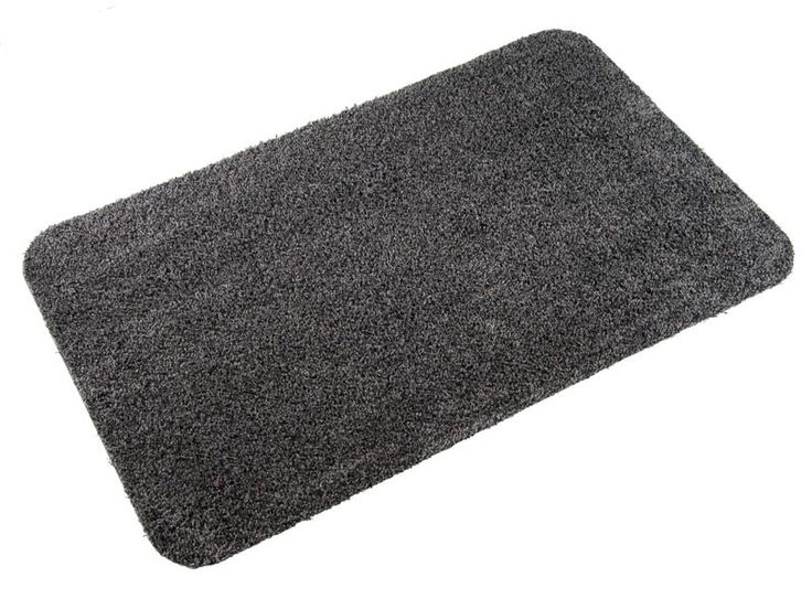 Cotton Door Mat | Karat Series | Anthracite This customizable cotton door mat is anthracite/black in colour, 100% cotton, and serves as a great accent piece to your home. The mat is attractive but still provides you with great durability and debris  control.   These door mats have a rubber backing that prevents sliding. They  keep moisture, dirt, and debris away from your  flooring. All sizes of  our cotton door