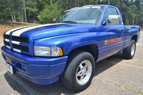 1996 Dodge Ram 1500 Indy 500 Special Edition Pace Truck Very Rare