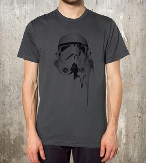 Unisex Street Art Storm Trooper Helmet T-Shirt