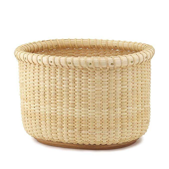 Teng Tian Handmade Basket Desktop Rattan Organizer With Premium