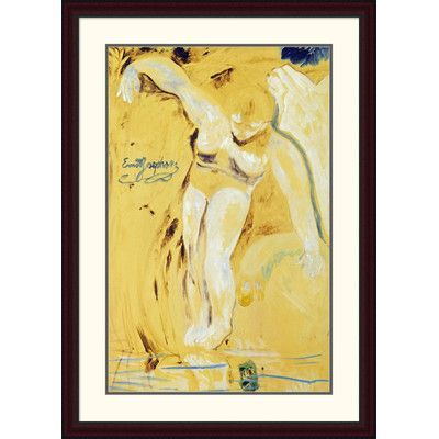 "Global Gallery 'The Water Sprite' by Ernst Josephson Framed Painting Print Size: 44"" H x 31.14"" W x 1.5"" D"