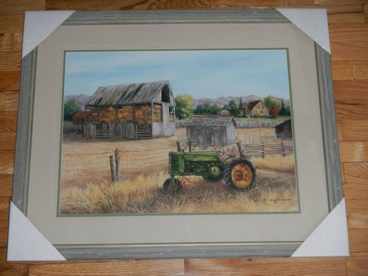 John Deere Home Decor : New john deere framed art picture home decor quot golden days