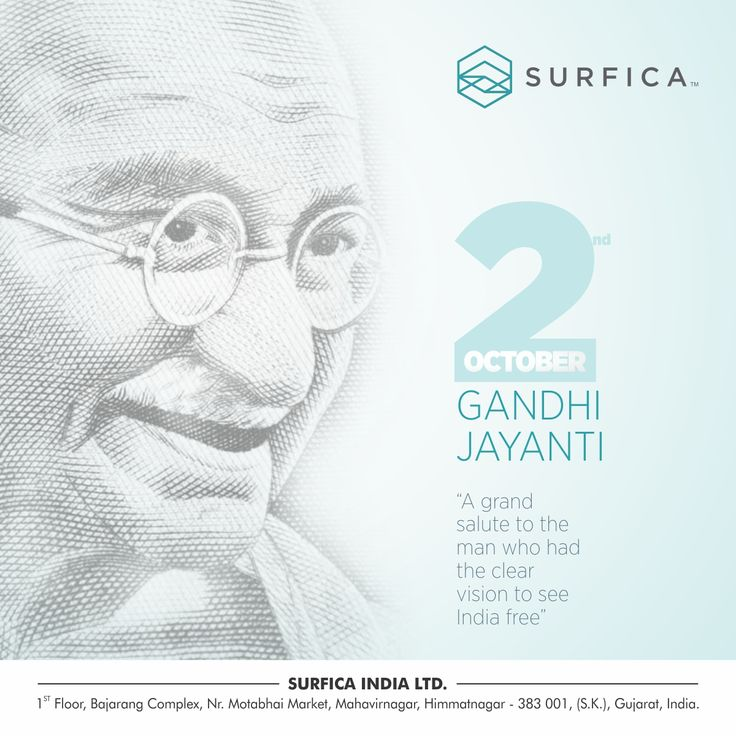A grand salute to the man who had the clear vision to see India free. #surfica #mahatmagandhi #gandhijayanti #gandhi #jayanti