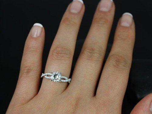 infinito solitario diamantes ouro branco18k/750! linda jóia!