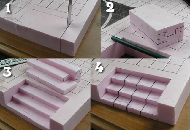 Stone Stairs out of Pink Foam