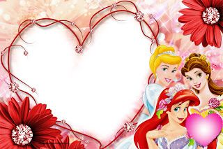 Marcos de fotos de princesas disney