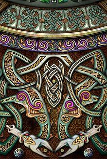 Celtic Interlace Dragons