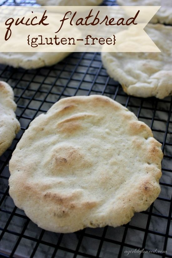 Gluten-free Flatbread, we used it as mini-pizza crust and loved it! Also in the morning putting jam on it is good:)