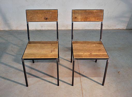 Interior design recupero un particolare sedie pensata e realizzata con assi in legno di abete di - Sedie in legno design ...