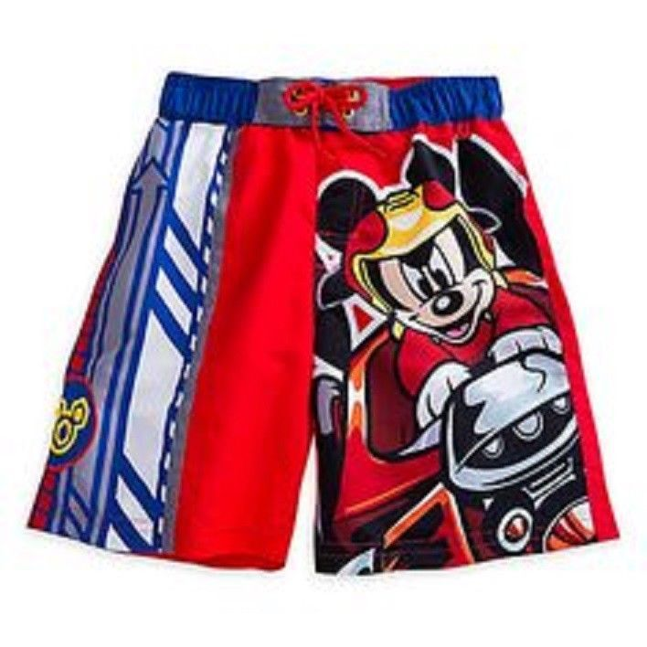 Fashion Toddler Boys Disney Mickey Mouse Roadster Racers Swim Short Trunk