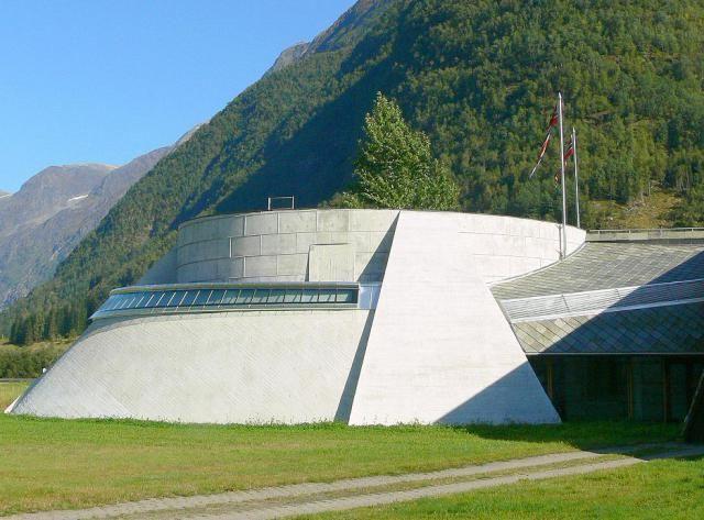 Norwegian Glacier Museum by Architect Sverre Fehn: Ulltveit-Moe Climate Centre