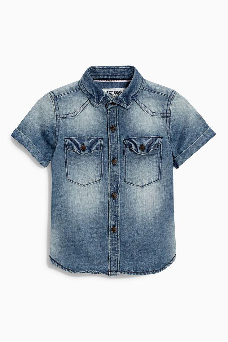 Buy Denim Short Sleeve Shirt (3mths-6yrs) from the Next UK online shop