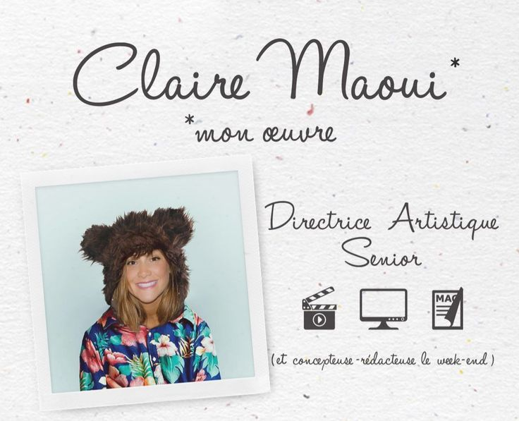on dit merci  u00e0 claire maoui pour le cv le plus original de