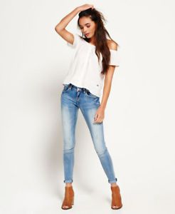 Womens Superdry Cassie Skinny Jeans Luna Blue | Fashion