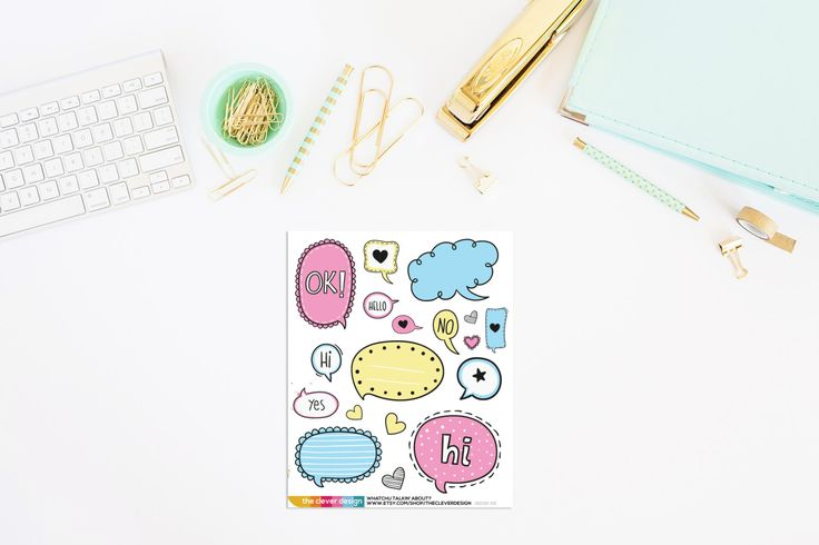 Whatchu Talkin' About Planner Stickers | Talk Bubble Stickers | Talk Bubble…