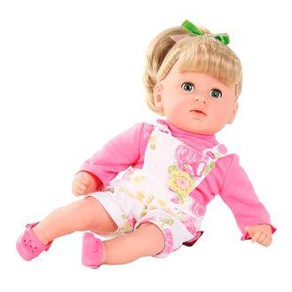 Fin badedukke fra G�tz. Dukken har rigtigt h�r og en bl�d krop med sm� perler i. �jenene kan blinke og h�ret kan vaskes. Hurtig dag-til-dag levering.