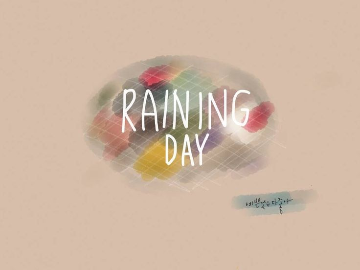 paper fifty three finger watercolor rainingday