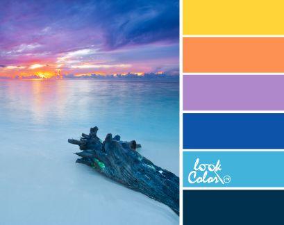A kombináció a kék szín.  égszínkék