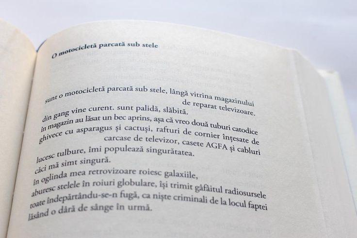 """""""O motocicletă parcată sub stele""""  Mircea Cartarescu"""