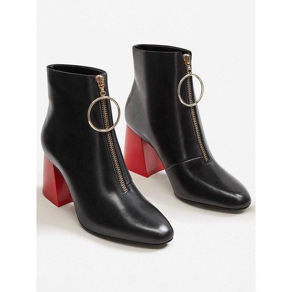 6bb5a5f498b Mango Pisa Heel Contracts Ankle Boot (7,705 INR) ❤ liked on ...