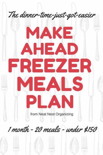 Make Ahead Freezer Meals: 20 Meals from Wegmans for Less Than $150!