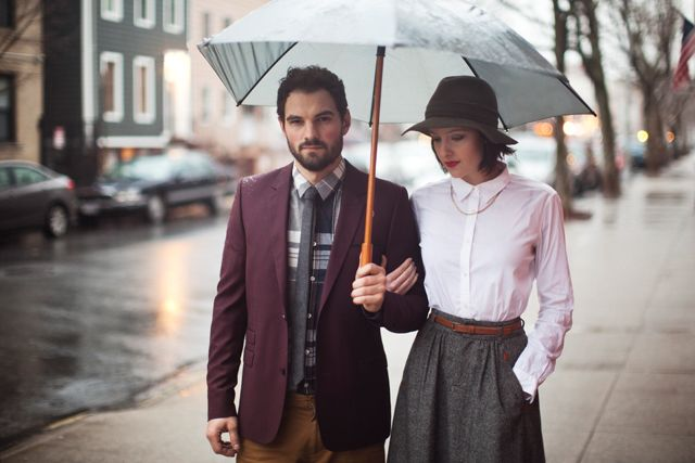 Beautiful. Terrific use of earthy tones and tailoring. Note the narrow shirt collar and simple slim tie, using the pattern on the shirt to add interest. Also, the narrow lapels and casual length sleeves on the jacket. This pairs as well with loafers and no socks as it does with boots, but the footwear MUST be vintage, or at least very well worn.