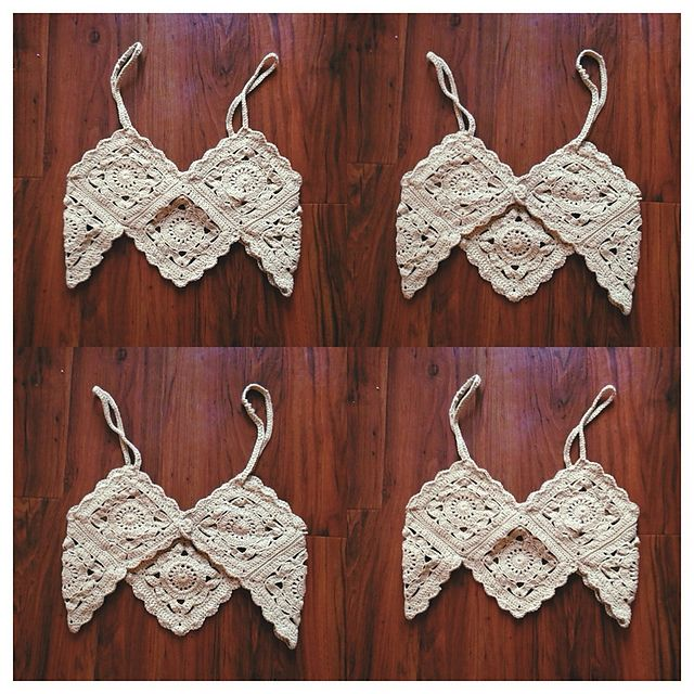 Ravelry: Granny Square Croptop ♥ pattern by Gemma Nugent